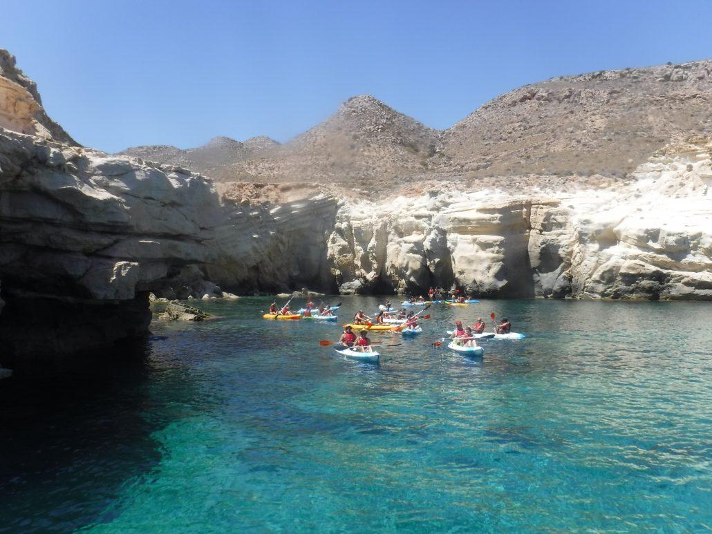 oferta ruta kayak cabo de gata almeria