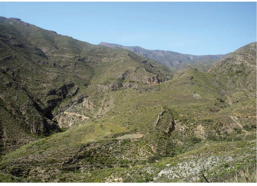 Vista aérea del Barranco de Carcauz