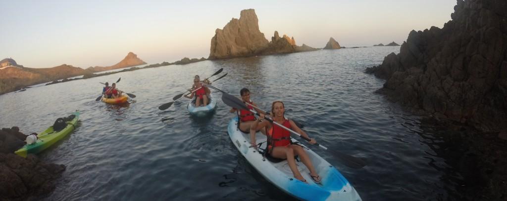 Ruta en Kayak por el Parque Natural Cabo de Gata
