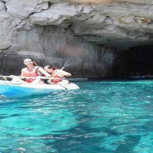 ruta en kayak en las negras cabo de gata nijar almeria