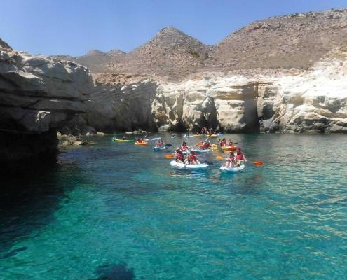 Ruta en kayak por Cabo de Gata