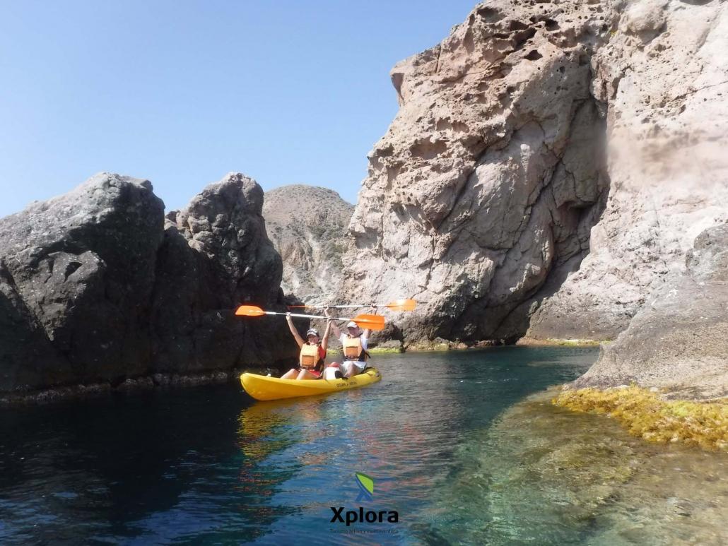 Kayak en Cabo de Gata Los Escullos