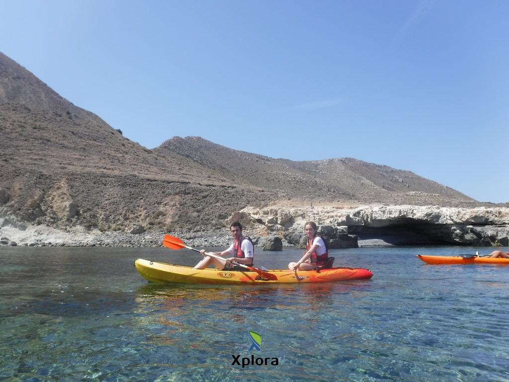 Ruta de Kayak en Cabo de Gata en AguaAmarga